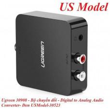 Bộ chuyển đổi Digital to Analog Audio model 30523 đen EU model Ugreen 30910
