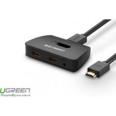 Splitter có khuếch đại 1x2 HDMI model 40207 đen Ugreen 40207
