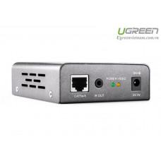 Bộ kéo dài HDMI 50m by Cat5e/6 với IR control model 40210 Alunminu case Ugreen 40210