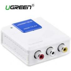 Bộ chuyển đổi HDMI ra AV model 40223 trắng 1cm Ugreen 40223