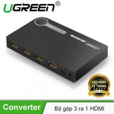 Bộ chuyển 3x1 HDMI HDMI 3X1 Switch model 40234 đen Ugreen 40234
