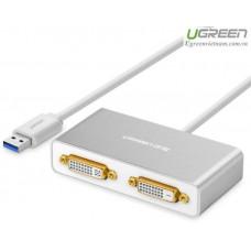 Bộ chuyển đổi new USB 3.0 ra Dual DVI model 40246 80CM 80CM Ugreen 40246