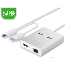 New USB 3.0 ra HDMI + 2 ports USB 3.0 + Gigabit LAN port model 40255 80CM 80CM Ugreen 40255
