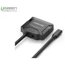 Bộ chuyển đổi cáp USB 3.0 type C to SATA model 40272 đen Ugreen 40272