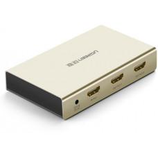 Bộ tách tín hiệu vỏ hợp kim kẽm có khuếch đại HDMI 1*2 model 40276 Zinc Alloy Ugreen 40276