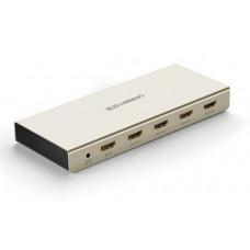 Bộ tách tín hiệu vỏ hợp kim kẽm có khuếch đại HDMI 1*4 model 40277 Zinc Alloy Ugreen 40277
