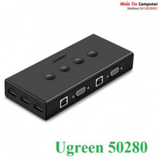 VGA KVM Switch model 50280 đen Ugreen 50280