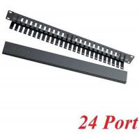 Ugreen 70424 24 công bộ kẹp dây cho Patch Panel RJ45 Management Rack màu đen NW128.