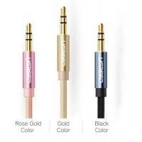 Cáp âm thanh đực ra đực 3.5mm model AV112 vàng 1.5M Ugreen 30810