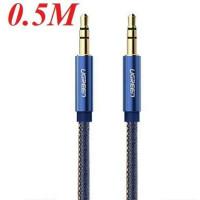 Xanh cáp âm thanh đực ra đực 3.5mm model AV113 xanh 1M Ugreen 40402