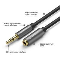 Cáp nối dài 3.5mm đực ra 3.5mm cái model AV118 đen 0.5M Ugreen 10779