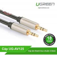 Cáp AUX model AV125 đen 2M Ugreen 40781
