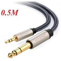 Cáp âm thanh TRS Stereo 3.5mm ra 6.35mm model AV127 đen 10M Ugreen 40808