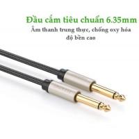 Cáp âm thanh Cáp stereo Auxiliary Aux 6.5MM đực ra đực model AV128 xám 2M Ugreen 10638