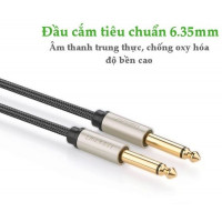 Cáp âm thanh Cáp stereo Auxiliary Aux 6.5MM đực ra đực model AV128 xám 3M Ugreen 10639
