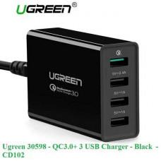 Bộ sạc 3.0+ 3 USB sạc nhanh model CD102 đen Ugreen 30598
