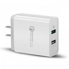 Bộ sạc 3.0 sạc nhanh 2.4A+ Dual USB model CD132 trắng Ugreen 40713