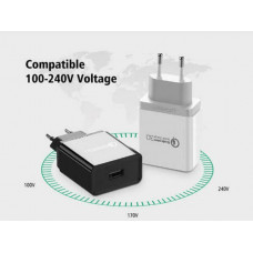Bộ sạc 3.0/ FCP sạc nhanh USB model CD161 trắng Ugreen 40715