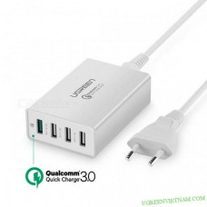 3.0/FCP sạc nhanh 4 Ports USB 2*2.4A + 2* model CD162 đen Ugreen 40716