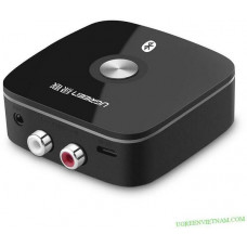 Bộ chuyển đổi với SRRC/BQB Certificate) 3 , 5mm+RCA Wireless bluetooth 4.2 APTX Receiver Audio model CM106 đen Ugreen 40759