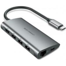 Bộ chuyển đổi Type C ra HDMI +USB 3.0*3 +PD power model CM136 đen Ugreen 50209