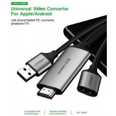 Bộ chuyển đổi USB ra HDMI Digital AV model CM151 xám Ugreen 50291