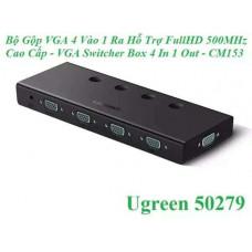 Box 4 In 1 Out bộ chuyển VGA model CM153 đen Ugreen 50279