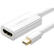 Bộ chuyển đổi Mini DP ra HDMI đực ra cái model CM156 trắng Ugreen 50287