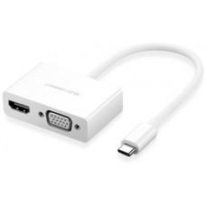 Bộ chuyển đổi có PD USB-C ra HDMI+VGA model CM162 Ugreen 50505