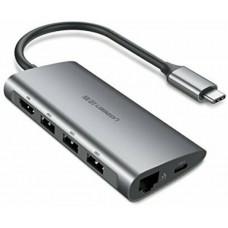 Bộ chuyển đổi có PD Power Chuyển Type C ra HDMI+VGA model CM164 Ugreen 50507