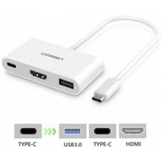 Hub OTG đa năng USB 2.0 model CR101 trắng Ugreen 20237