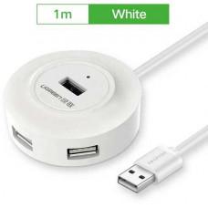 Hub 4 Ports với OTG USB 2.0 model CR106 trắng 80CM Ugreen 20271