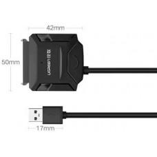 Bộ chuyển đổi cáp included 12V 2Apower USB 2.0 ra SATA ổ cứng r model CR108 25CM 25CM Ugreen 20215