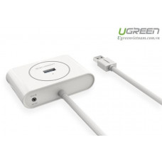 USB 3.0 4 Ports Hub model CR113 trắng 1M Ugreen 20282