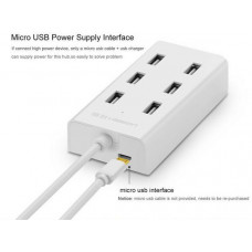 USB 2.0 7 ports HUB model CR130 trắng 1M Ugreen 30370