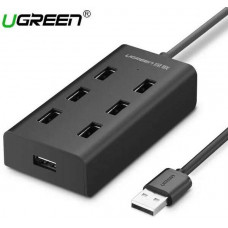 USB 2.0 7 ports HUB model CR130 đen 1M Ugreen 30374