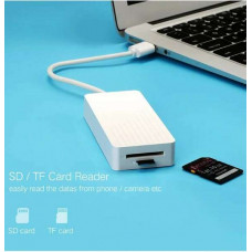 Bộ chuyển đổi Port USB 3.0 Hub với External Stereo Sound 3 model CR133 trắng 30CM Ugreen 30418
