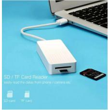 Bộ chuyển đổi Port USB 3.0 Hub với External Stereo Sound 3 model CR133 trắng 1M Ugreen 30419