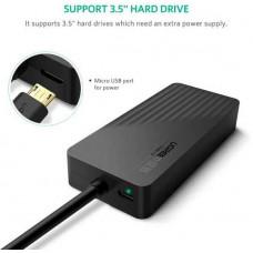 Bộ chuyển đổi Port USB 3.0 Hub với External Stereo Sound 3 model CR133 đen 30CM Ugreen 30420