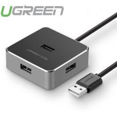 Hub 4 Port USB 2.0 tốc độ cao model CR135 đen 150cm Ugreen 30425
