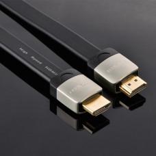 Cáp dẹp HDMI HD123 đầu cắm kim loại 1.4 đồng nguyên chất 19+1 model HD123 đen 10M Ugreen 10265