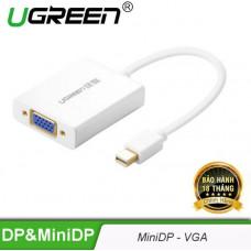 Bộ chuyển đổi Aluminum Mini DP ra VGA model MD107 với audio Ugreen 10437