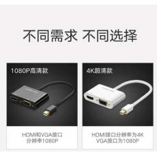 Bộ chuyển đổi Mini DisplayPort ra HDMI & VGA model MD108 trắng Ugreen 40364