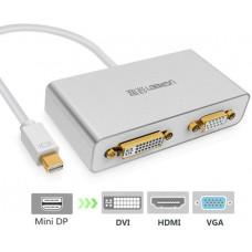 Bộ chuyển đổi 3 in 1 Mini DisplayPort ra HDMI&VGA&DVI model MD109 trắng Ugreen 10438