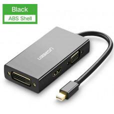 Bộ chuyển đổi Mini DP ra HDMI/ VGA/ DVI model MD114 đen Ugreen 20418