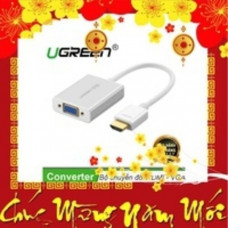 Bộ chuyển đổi không có Audio 1920*1080@60Hz(Max) HDMI ra VGA model MM102 trắng trắng Ugreen 40252