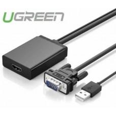 Bộ chuyển đổi VGA to HDMI model MM106 đen 1m đen 1m Ugreen 40213