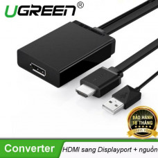 Bộ chuyển đổi 4K*2K HDMI + USB ra DP model MM107 50cm 50cm Ugreen 40238