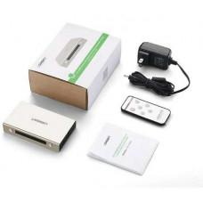 HDMI 3*1 Switch với 3.5mm + SPDIF model MM128 Zinc Alloy Ugreen 40369