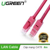 Cáp dẹp phủ nhôm Cat 6 đồng nguyên chất model NW102 đỏ 0.5M Ugreen 50161